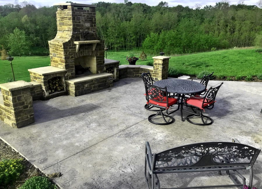Stamped Concrete Can Make Your Backyard an Updated Entertainment Area